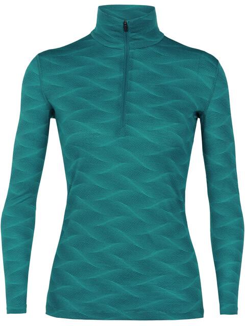 Icebreaker 200 Oasis Curve LS Half Zip Shirt Women Kingfisher/Arctic Teal